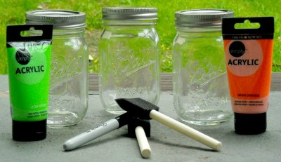 DIY Halloween Mason Jar Craft stuff