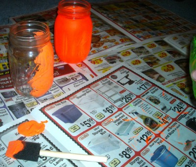 DIY Halloween Mason Jar Luminary Craft