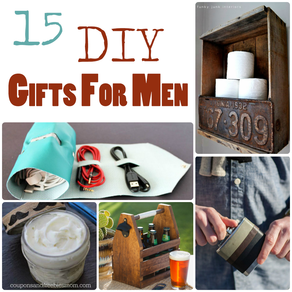 15 diy gifts for men the craftiest couple for Easy gifts for men