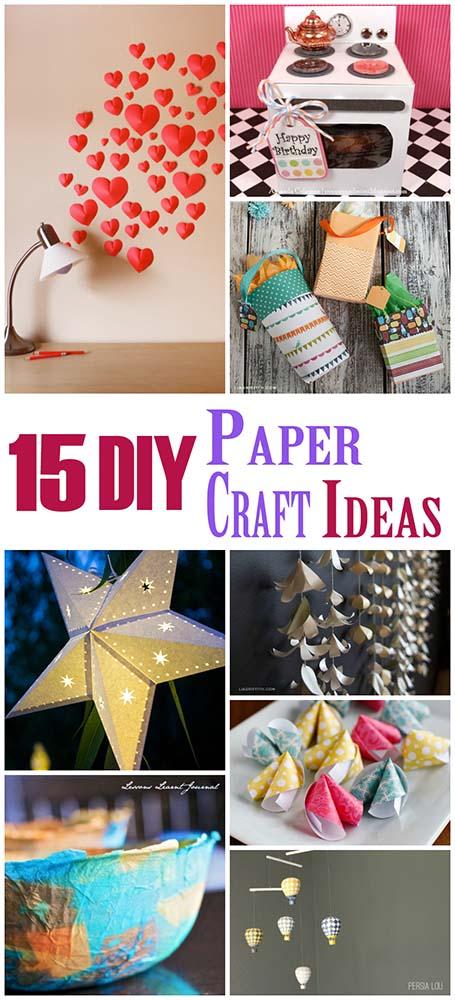 15 DIY Paper Craft Ideas