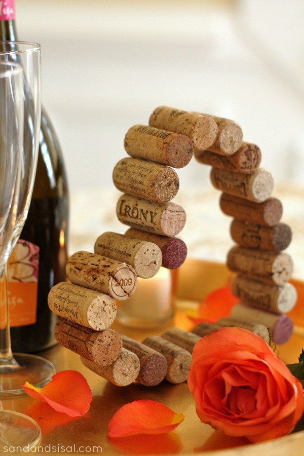 DIY Wine Cork Valentine's Heart Craft