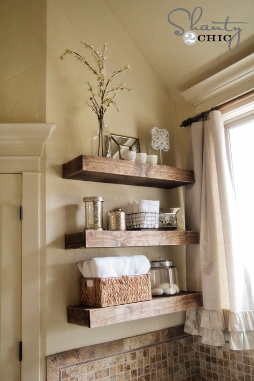 DIY Easy Floating Shelves - Top 20 Easy DIY Shelves http://thecraftiestcouple.com