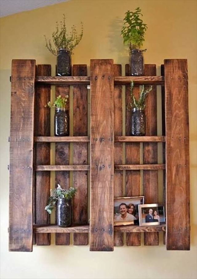 DIY Pallet Shelves - Top 15 Easy DIY Shelves http://thecraftiestcouple.com