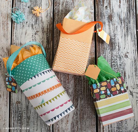 DIY Paper Gift Bags Craft
