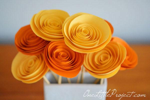 DIY Rolled Paper Flower Craft