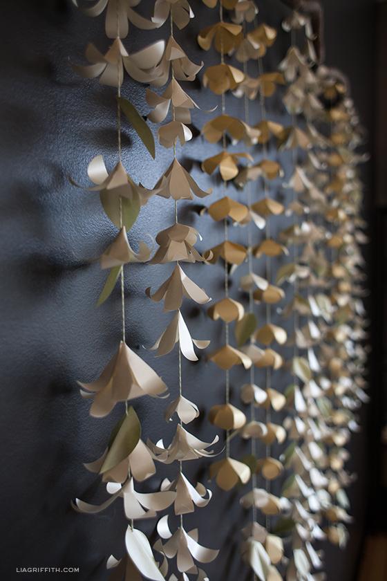DIY Cascading Paper Flower Decor Craft