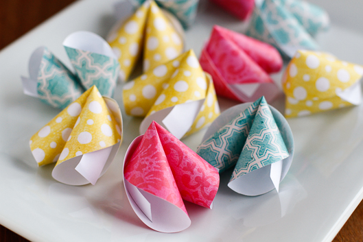DIY Paper Fortune Cookie Craft