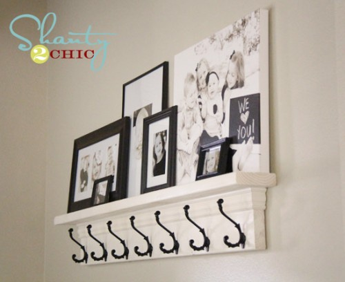 DIY Shelf with Hooks - Top 20 Easy DIY Shelves