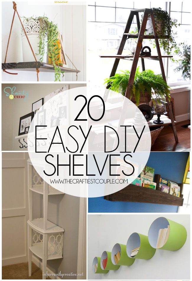 20 Easy DIY Shelves