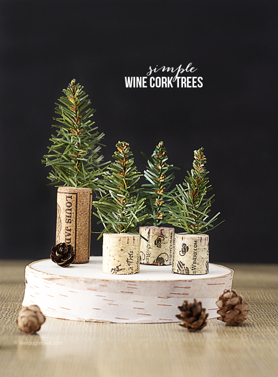 DIY Wine Cork Trees
