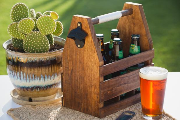 DIY Wooden Beer Caddie