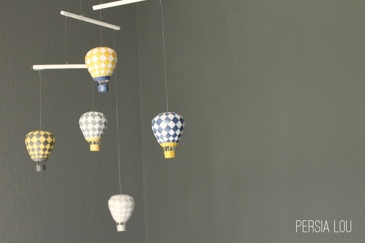 Diy Paper Hot Air Balloon Mobile The Craftiest Couple