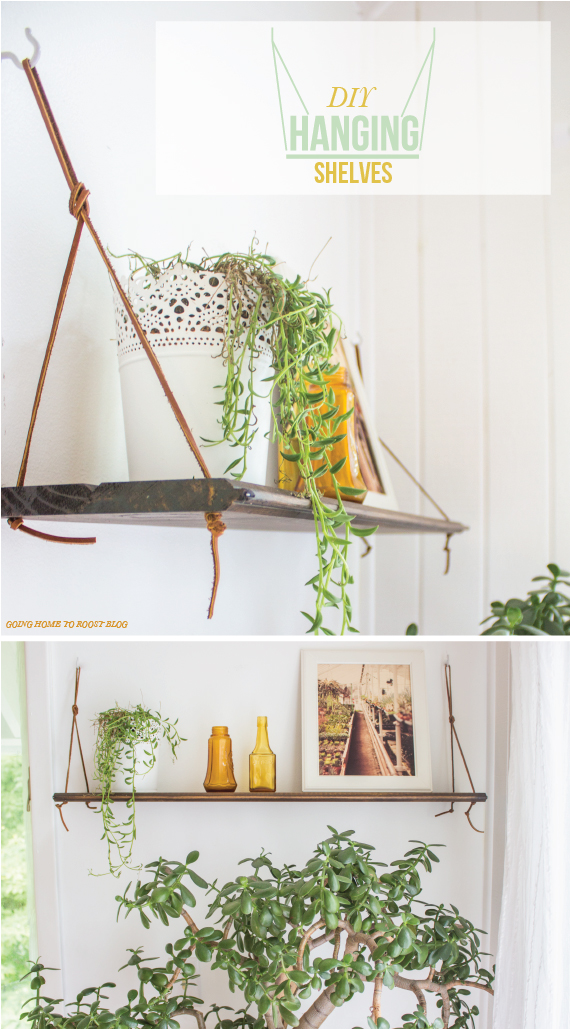 DIY Hanging Shelves - Top 20 Easy DIY Shelves http://thecraftiestcouple.com