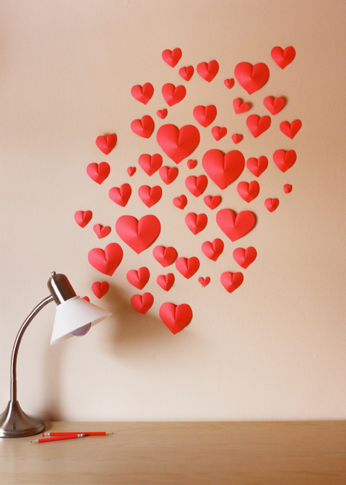 DIY Paper Heart Wall Decor  Craft