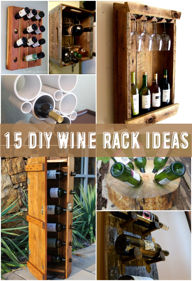 wine pallet for organized rack diy