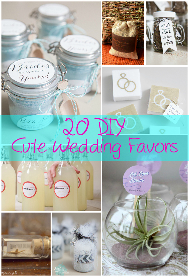 20 Diy Cute Wedding Favors The Craftiest Couple