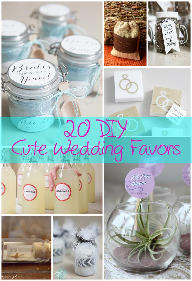 15 Cute Easy Diy Wedding Favor Crafts