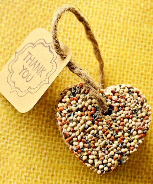Birdseed Heart Wedding Favor Craft