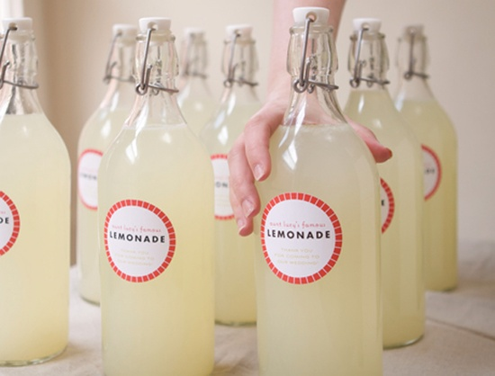 Bottled Lemonade Wedding Favor Crafts