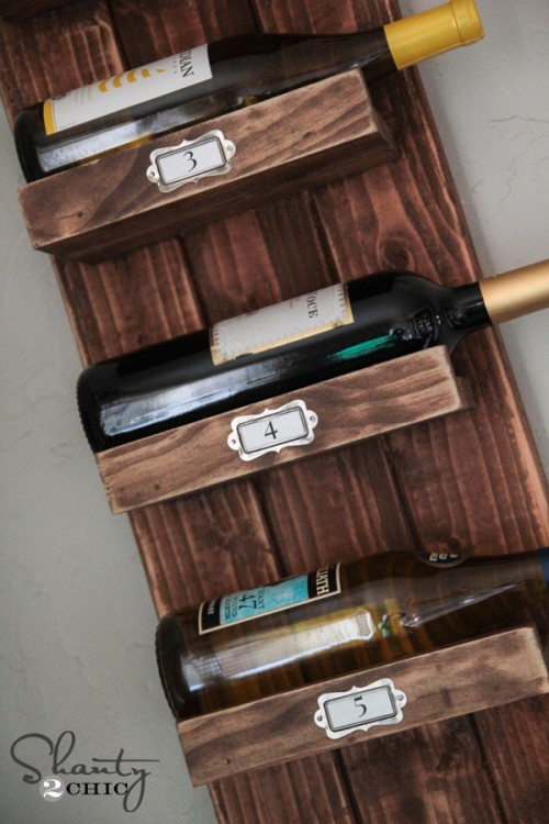 DIY $10 Wine Rack Craft