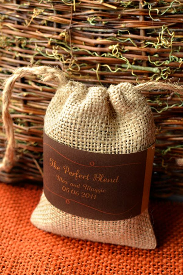 DIY Coffee in a Bag Wedding Favor