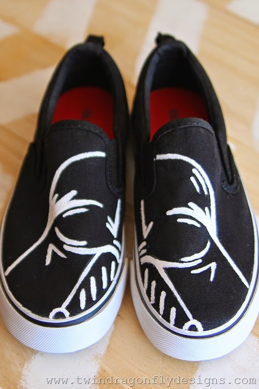 DIY Darth Vader Shoes Craft
