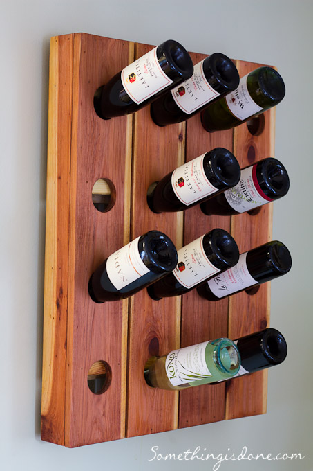 DIY Fence Picket Wine Rack Craft