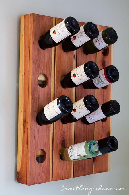 DIY Fence Picket Wine Rack Craft