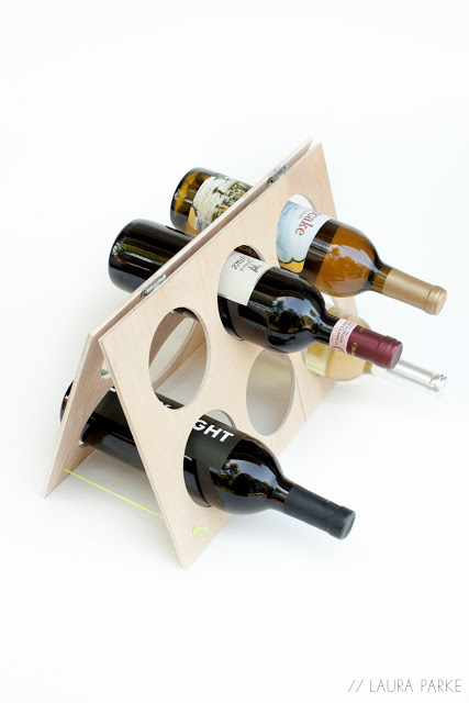 DIY Frame Wine Rack Craft