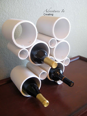 DIY PVC Pump Wine Rack Craft