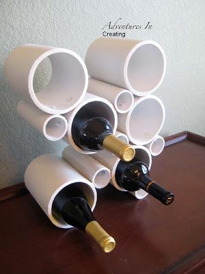 DIY PVC Pump Wine Rack Craft