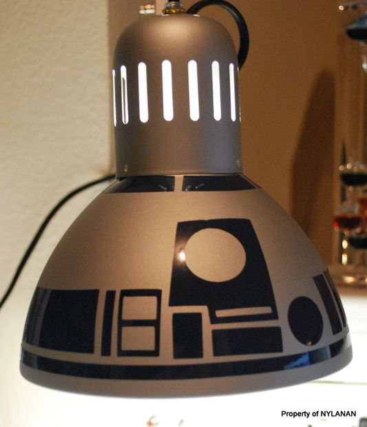 DIY R2D2 Lamp Craft