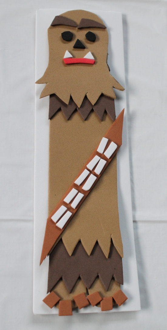 DIY Star Wars Chewbacca Bookmark Craft