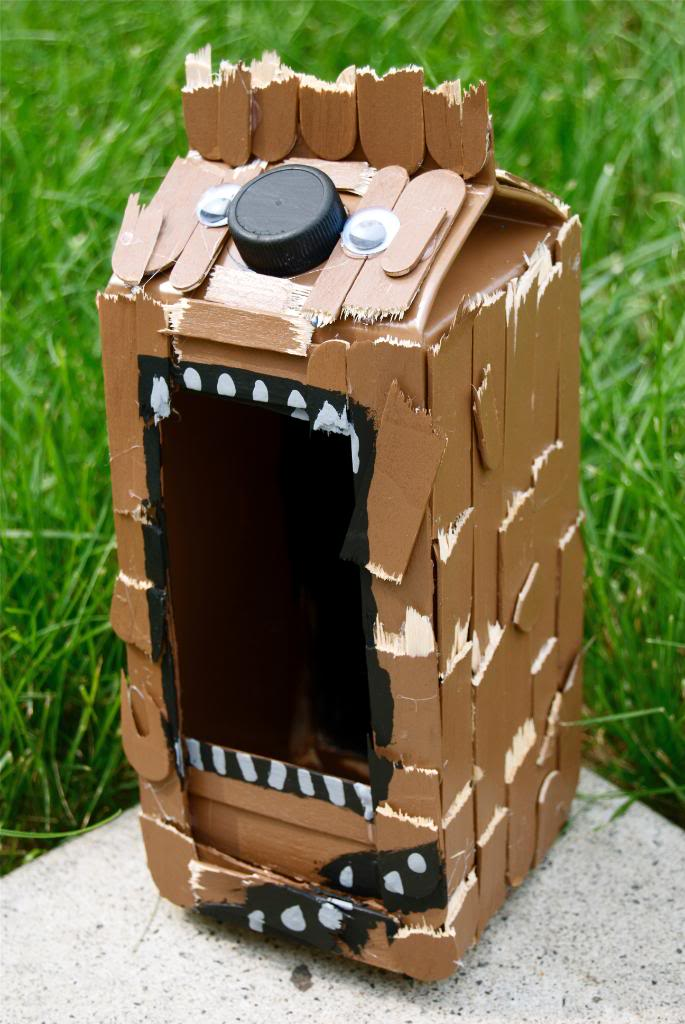 DIY Star Wars Wookie Bird House Craft