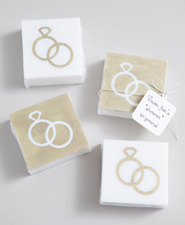 DIY Stenciled Soap Wedding Favor Craft