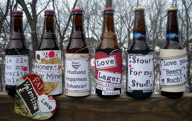 DIY Valentines Day Beer Label