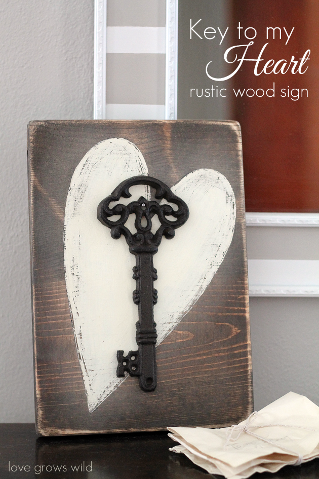 DIY Valentines Day Gift Rustic Wood Sign