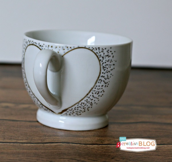 DIY Valentines Day Painted Mug Gift Craft