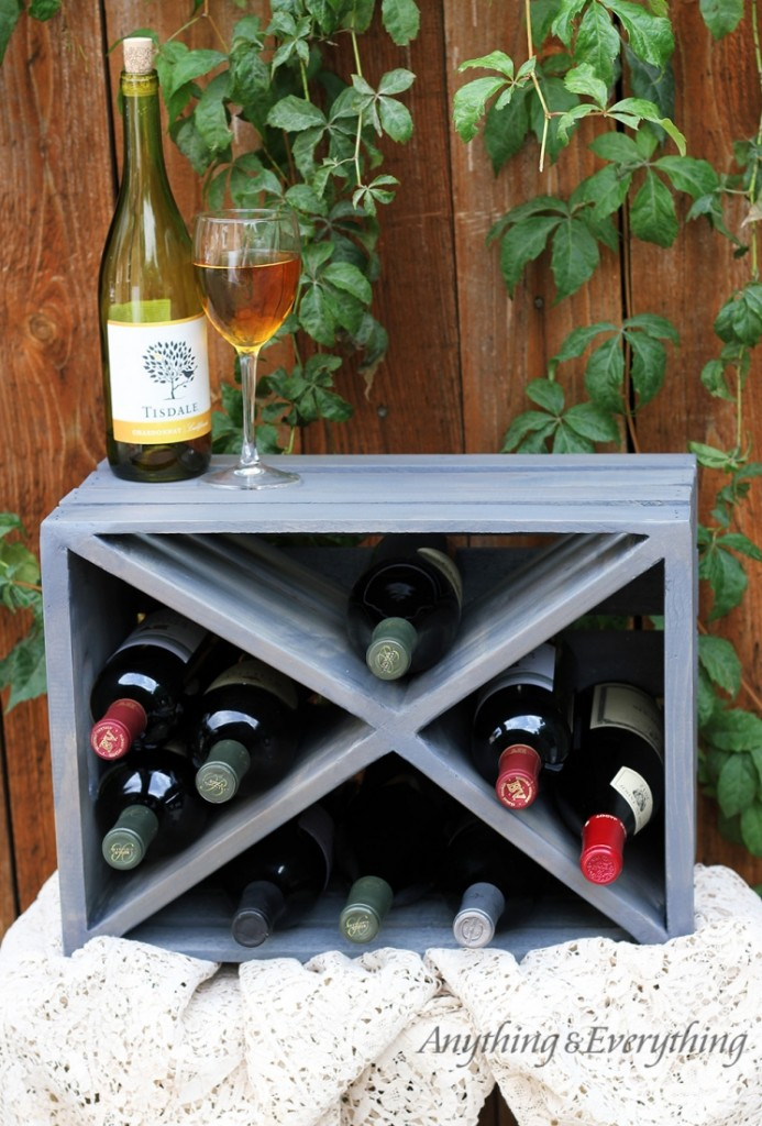 DIY Wood Crate Wine Rack Craft