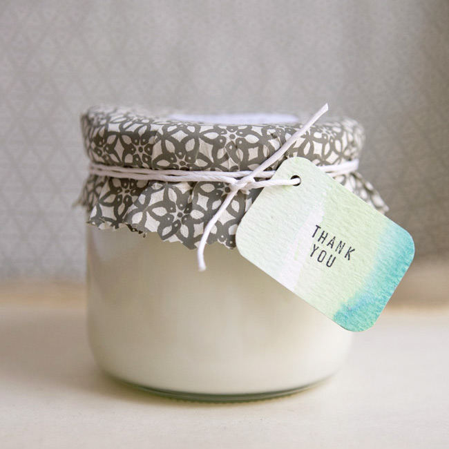 Eco Friendly Soy Candle Wedding Favor Craft