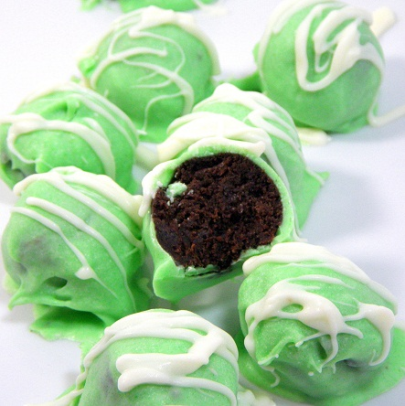 Girl Scout NO BAKE Thin Mint Truffles