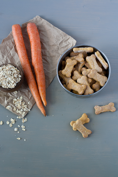 Homemade Carrot and Oat Dog Biscuits