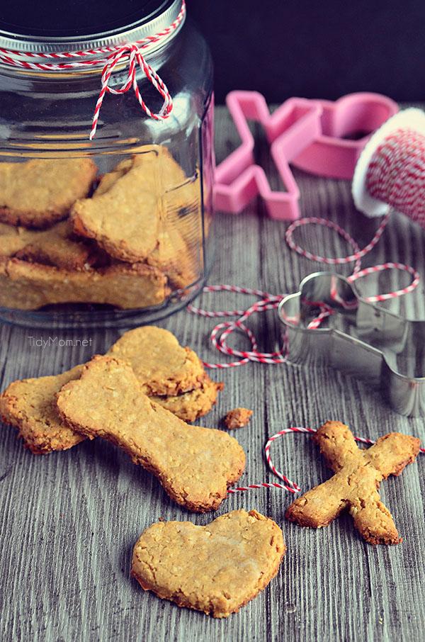 Homemade Peanut Butter Dog Biscuits recipe