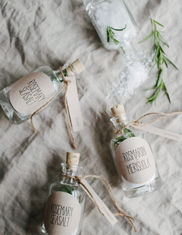 Rosemary Seasalt Wedding Favor Craft