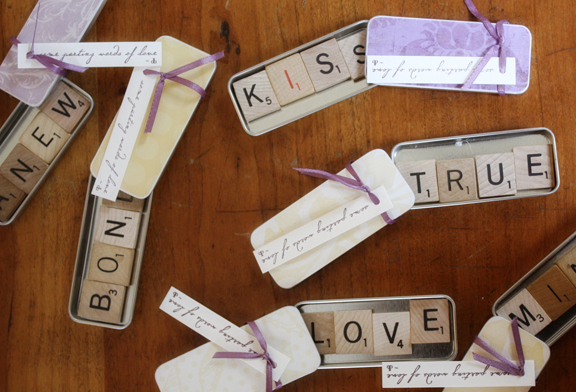 Scrabble Magnet Wedding Favor Craft