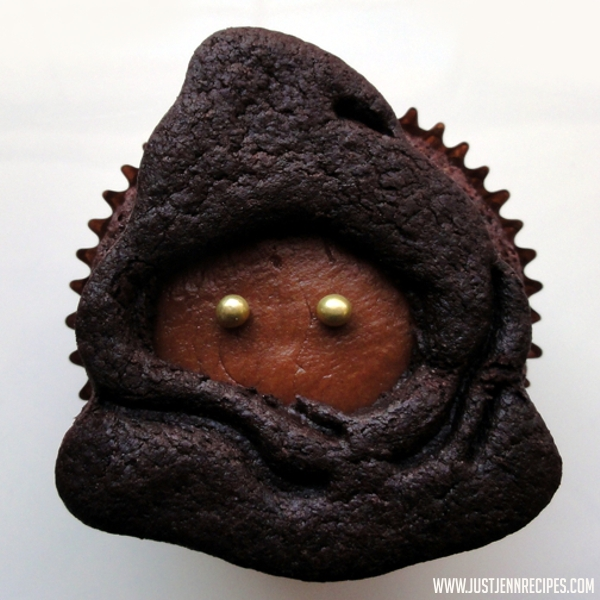 Star Wars Jawa Vegan Cookie Cupcakes