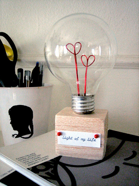 Valentines Day Light Bulb Gift Craft