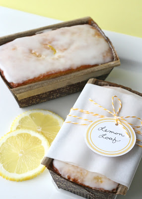 Wrapped Lemon Loaf Wedding Favor