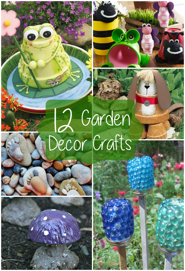 12 garden decor crafts the craftiest couple for Art and craft ideas for decoration