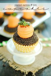Carrots & Dirt Cupcakes